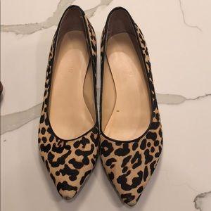 Ivanka Trump leopard print flats
